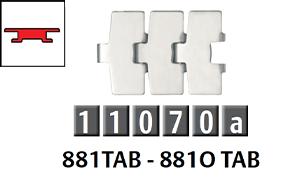 881 勾腳型平頂鏈條